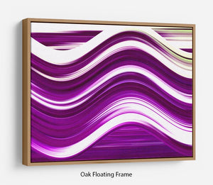 Purple Wave Floating Frame Canvas - Canvas Art Rocks - 9