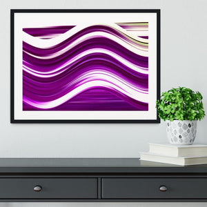 Purple Wave Framed Print - Canvas Art Rocks - 1