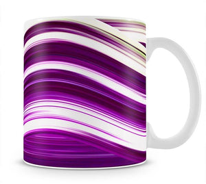 Purple Wave Mug - Canvas Art Rocks - 1