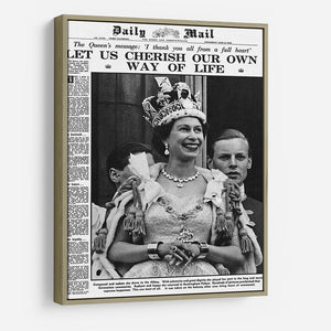 Queen Elizabeth II Coronation Daily Mail front page 3 June 1953 HD Metal Print