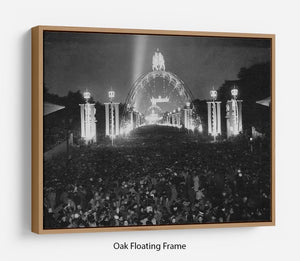 Queen Elizabeth II Coronation floodlit fairy arches Floating Frame Canvas