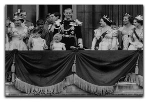 Queen Elizabeth II Coronation group appearance on balcony Canvas Print or Poster  - Canvas Art Rocks - 1