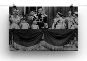 Queen Elizabeth II Coronation group appearance on balcony Canvas Print or Poster - Canvas Art Rocks - 2