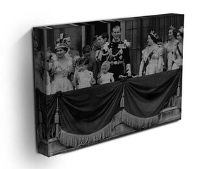 Queen Elizabeth II Coronation group appearance on balcony Canvas Print or Poster - Canvas Art Rocks - 3