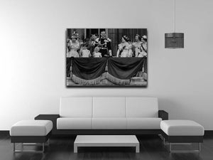 Queen Elizabeth II Coronation group appearance on balcony Canvas Print or Poster - Canvas Art Rocks - 4