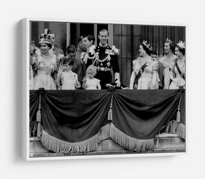 Queen Elizabeth II Coronation group appearance on balcony HD Metal Print