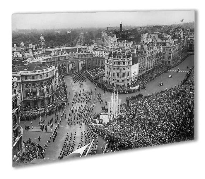 Queen Elizabeth II Coronation procession in Trafalgar Square Outdoor Metal Print