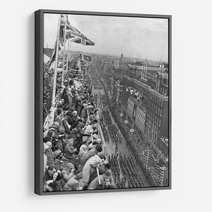 Queen Elizabeth II Coronation procession pass on Oxford Street HD Metal Print