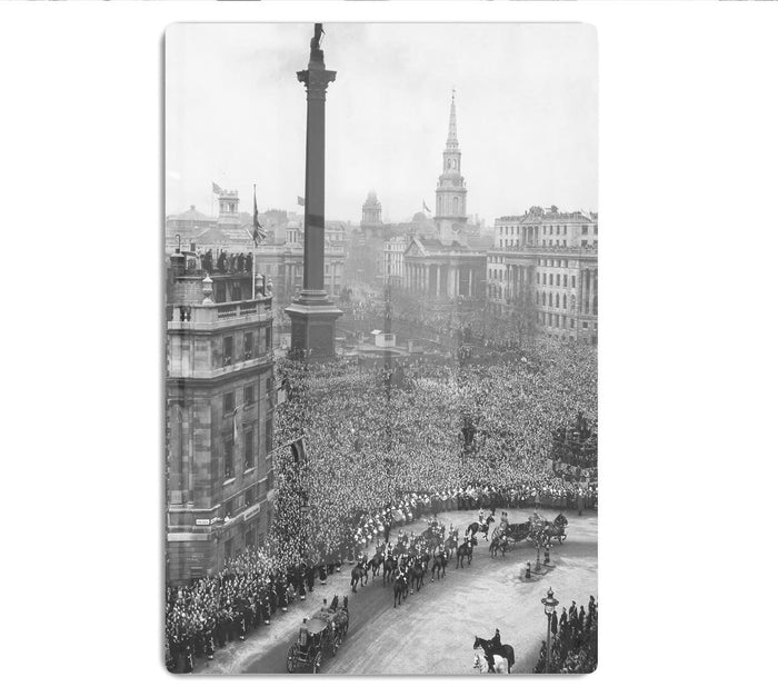 Queen Elizabeth II Wedding wedding coach in Trafalgar Square HD Metal Print