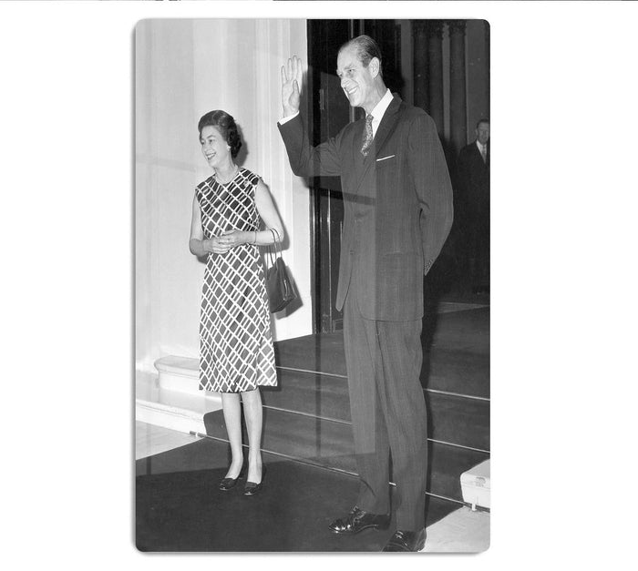 Queen Elizabeth II and Prince Philip hosting a state visit HD Metal Print