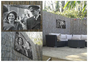 Queen Elizabeth II and Prince Philip touring as young couple Outdoor Metal Print - Canvas Art Rocks - 2