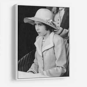 Queen Elizabeth II as a child seated in a hat HD Metal Print
