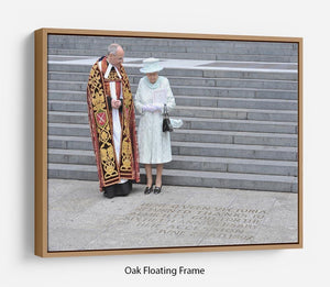 Queen Elizabeth II at her Diamond Jubilee service Floating Frame Canvas