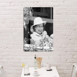 Queen Elizabeth II charmed at the Epsom Derby HD Metal Print