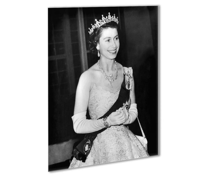 Queen Elizabeth II during her Coronation tour Outdoor Metal Print