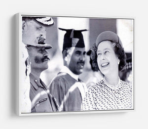 Queen Elizabeth II laughing during her tour of India HD Metal Print