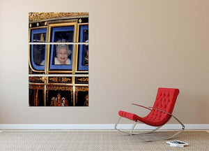Queen Elizabeth II leaving the State Opening of Parliament 3 Split Panel Canvas Print - Canvas Art Rocks - 2