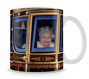 Queen Elizabeth II leaving the State Opening of Parliament Mug - Canvas Art Rocks - 1