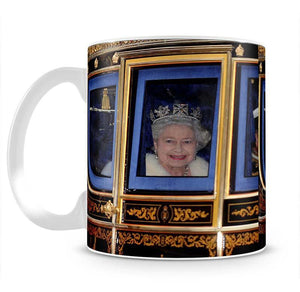 Queen Elizabeth II leaving the State Opening of Parliament Mug - Canvas Art Rocks - 2