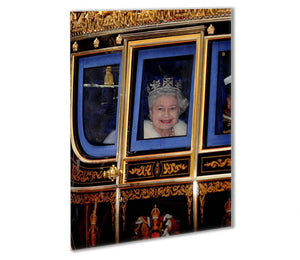 Queen Elizabeth II leaving the State Opening of Parliament Outdoor Metal Print - Canvas Art Rocks - 1