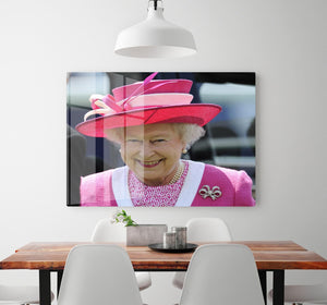 Queen Elizabeth II smiling at the Derby HD Metal Print