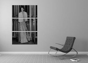 Queen Elizabeth II the day she was engaged to Prince Philip 3 Split Panel Canvas Print - Canvas Art Rocks - 2