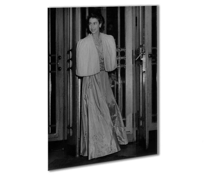 Queen Elizabeth II the day she was engaged to Prince Philip Outdoor Metal Print