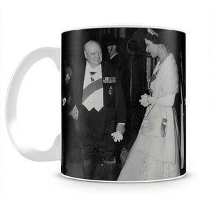 Queen Elizabeth II with Winston Churchill at Downing Street Mug - Canvas Art Rocks - 2