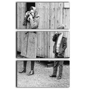 Queen Elizabeth II with a young Prince Edward 3 Split Panel Canvas Print - Canvas Art Rocks - 1