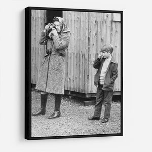 Queen Elizabeth II with a young Prince Edward HD Metal Print