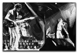 Queen Live On Stage Pop Art Canvas Print or Poster  - Canvas Art Rocks - 1