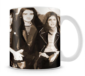 Queen Sepia Pop Art Mug - Canvas Art Rocks - 1