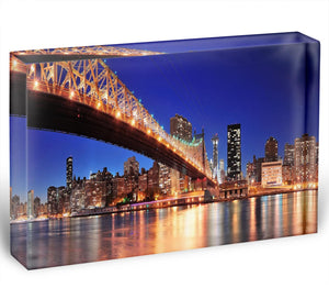 Queensboro Bridge over New York Acrylic Block - Canvas Art Rocks - 1
