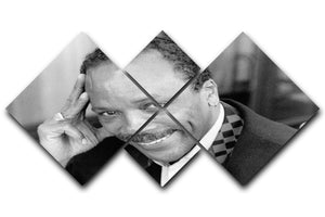 Quincy Jones 4 Square Multi Panel Canvas - Canvas Art Rocks - 1