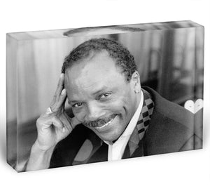 Quincy Jones Acrylic Block - Canvas Art Rocks - 1