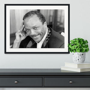 Quincy Jones Framed Print - Canvas Art Rocks - 1