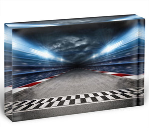 Race Track Acrylic Block - Canvas Art Rocks - 1
