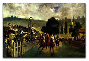 Race at Longchamp by Manet Canvas Print or Poster  - Canvas Art Rocks - 1