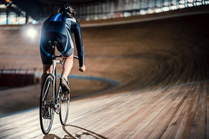 Racing cyclist on velodrome Wall Mural Wallpaper - Canvas Art Rocks - 1