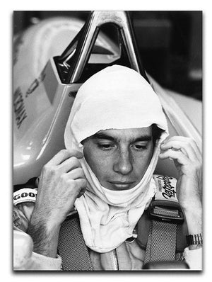 Racing driver Ayrton Senna at Silverstone Canvas Print or Poster  - Canvas Art Rocks - 1