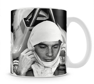 Racing driver Ayrton Senna at Silverstone Mug - Canvas Art Rocks - 1