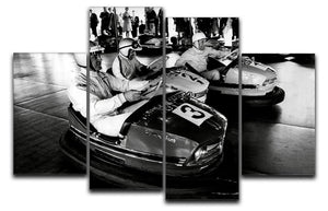 Racing drivers on the dodgems 4 Split Panel Canvas  - Canvas Art Rocks - 1