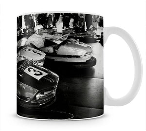 Racing drivers on the dodgems Mug - Canvas Art Rocks - 1