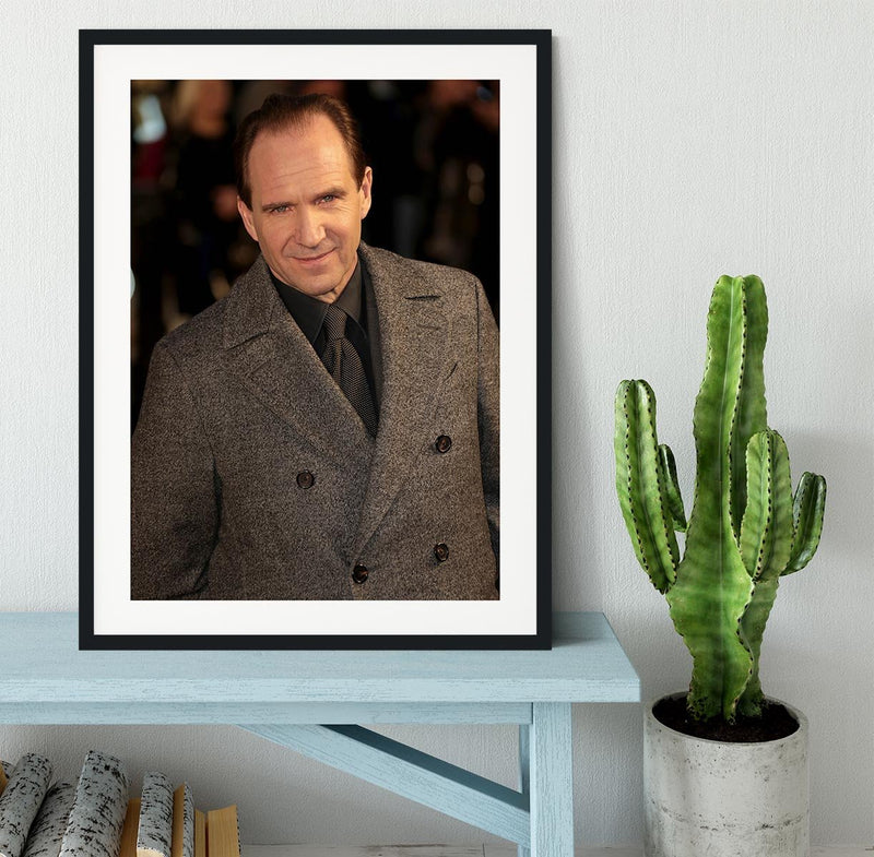 Ralph Fiennes Framed Print - Canvas Art Rocks - 1