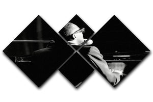 Ray Charles at the piano 4 Square Multi Panel Canvas  - Canvas Art Rocks - 1