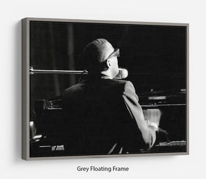 Ray Charles at the piano Floating Frame Canvas - Canvas Art Rocks - 3