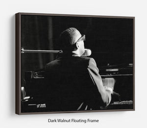 Ray Charles at the piano Floating Frame Canvas - Canvas Art Rocks - 5