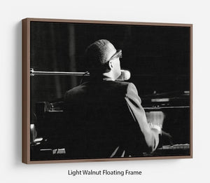 Ray Charles at the piano Floating Frame Canvas - Canvas Art Rocks - 7