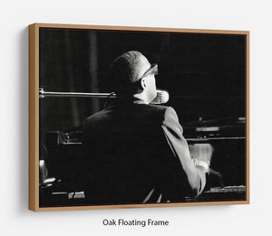 Ray Charles at the piano Floating Frame Canvas - Canvas Art Rocks - 9