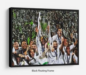 Real Madrid Champions League 2017 Floating Frame Canvas